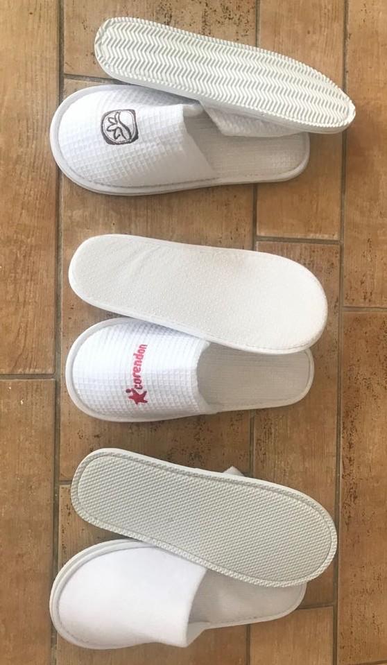 Katoen hotel slippers met of zonder borduring